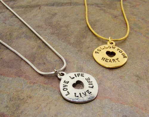 Gabby & Gia Necklace : Love Life, Live Life
