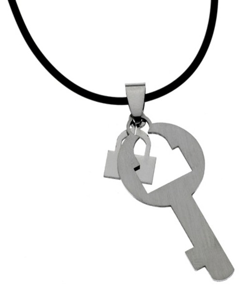 Lock & Key Stainless Steel Necklace