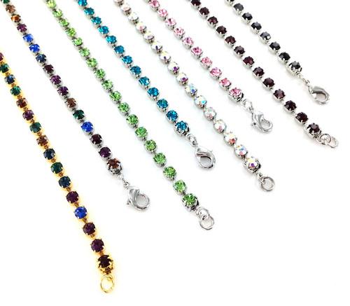 Bianca Stone Crystal Tennis Bracelets made with Swarovski Elements
