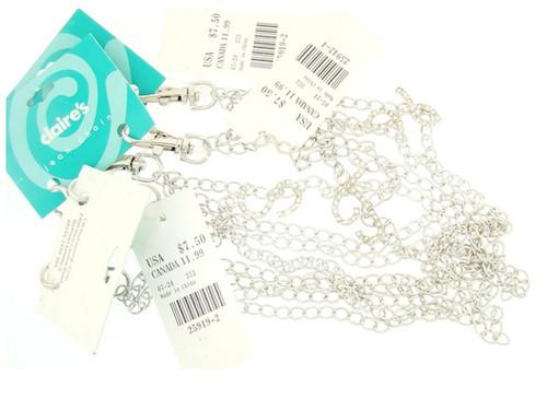 Wholesale Claire's Crystal Alphabet Jean Chains - 13 Pieces