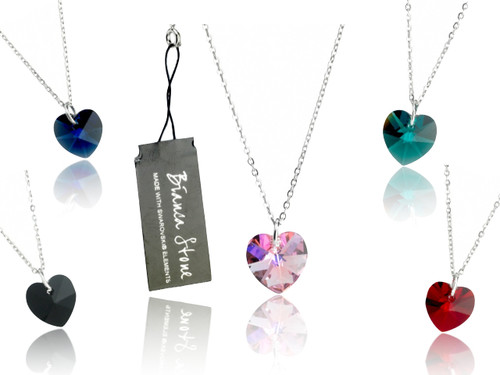 Bianca Stone Heart Charm Necklace