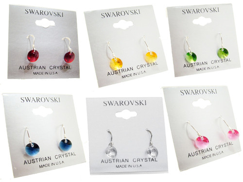 Bianca Stone Sterling Silver & Swarovski Crystal Earrings