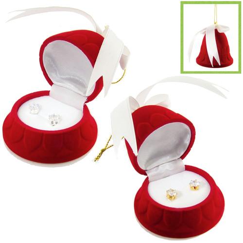 CZ Earrings in Bell Gift Box