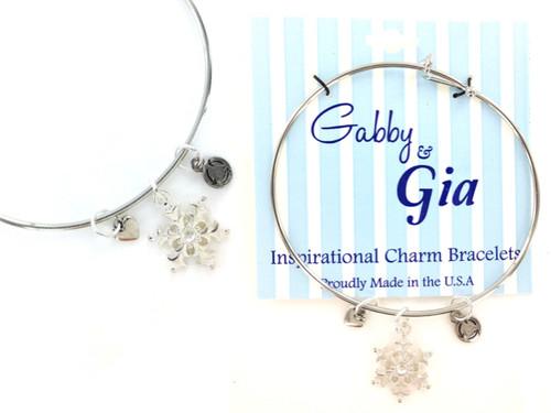 Gabby & Gia Bracelet - Snowflake