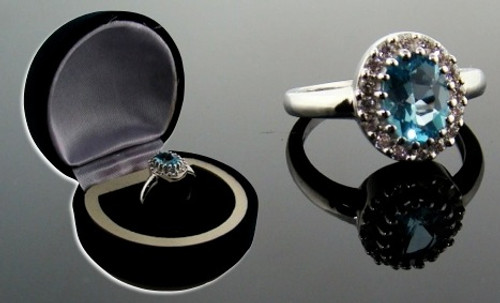 Wholesale Blue Topaz Ring