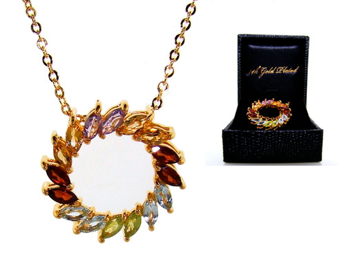 Wholesale Semi-Precious Circle of Life Necklace