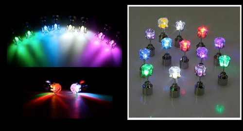 Party Lite Up CZ Stud Earrings