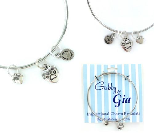 Gabby & Gia Bracelet - Love My Dog