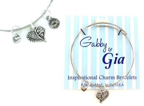 Gabby & Gia Bracelet - Swirl Heart