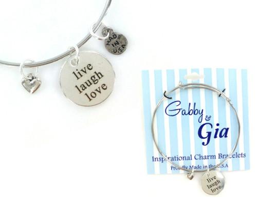 Gabby & Gia Bracelet - Live Laugh Love