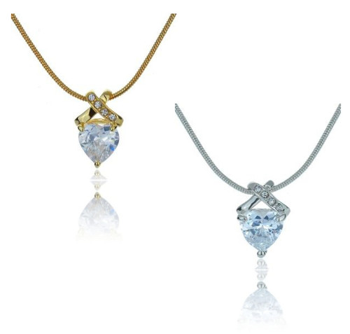 Cross My Heart CZ Necklace Wholesale