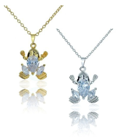 Frog Princess CZ Necklace