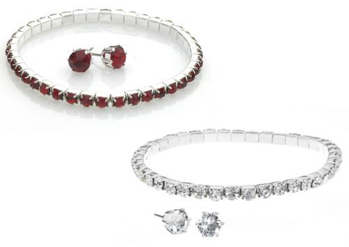 Crystal Bracelet & Earrings Set