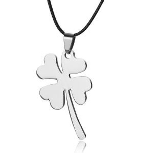 Stainless Steel Four Leaf Clover Necklace