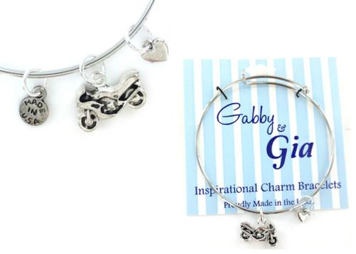 Gabby & Gia Bracelet - Motorcycle
