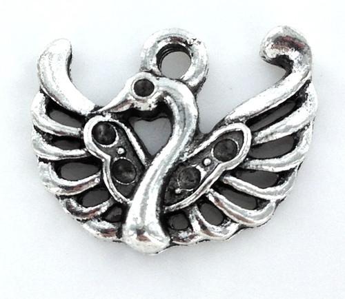 Zinc Alloy Swan Charm