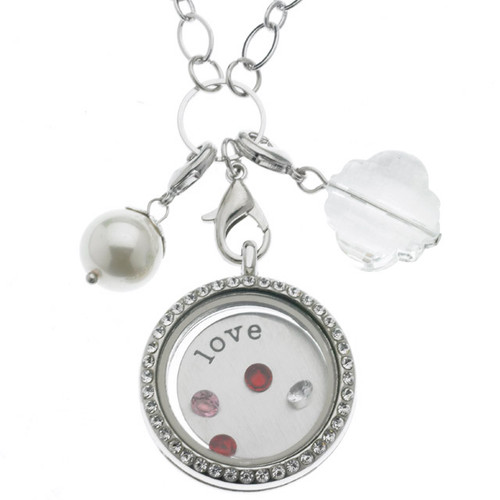 Floating Locket Necklace - Love