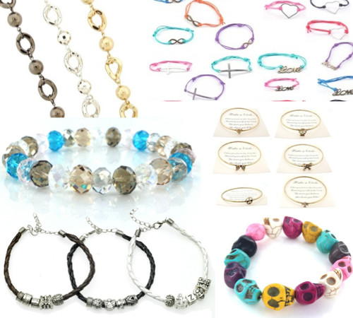 100 Piece Assorted Wholesale Bracelets Lot