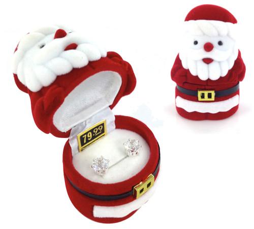 Wholesale CZ Earrings in Santa Gift Box