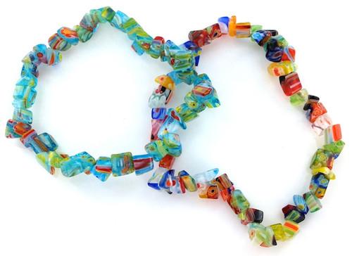 Assorted Lamp Work Glass Bracelets Priced Per Dozen