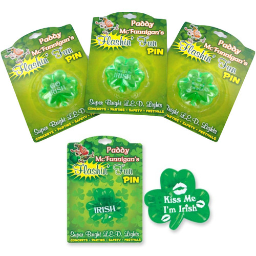 Flashing Fun Irish Theme Pins