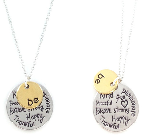 Just BE Double Pendant Necklace