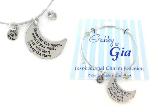 Gabby & Gia Bracelet - Shoot for the Moon