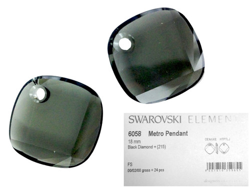 Wholesale Swarovski Crystal 6058 Metro Pendant - 18MM