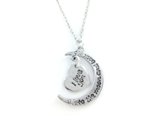 I Love You To The Moon & Back Necklace - 2 Piece