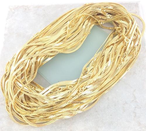 Herringbone Chain by the Gross - 18 Inch