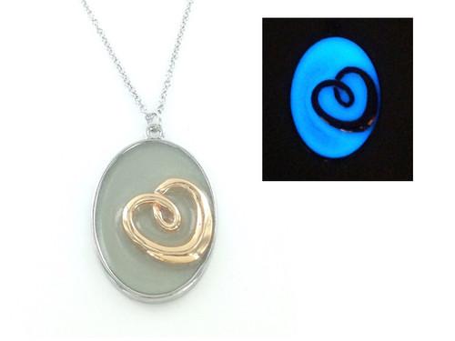 Glow in the Dark Necklace - Love