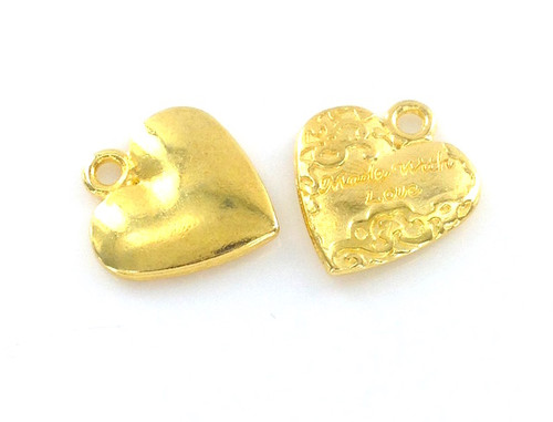 Wholesale 'Made with Love' Heart Shaped Charm / Tag
