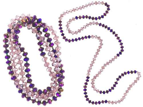 """42"""" Amethyst Crystal Necklace Wholesale"""