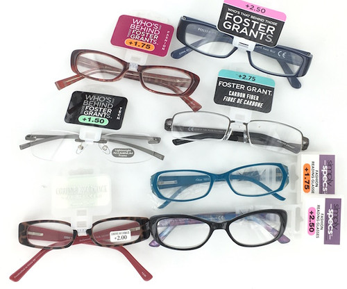Foster Grant Magnification Reading Glasses - 100 Pairs
