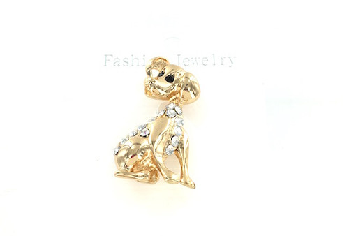 Wholesale Golden Puppy Pin