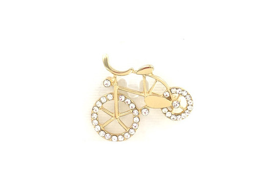Wholesale Golden Bicycle Pin