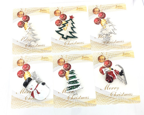 Wholesale Holiday Pin Assortment by the Dozen