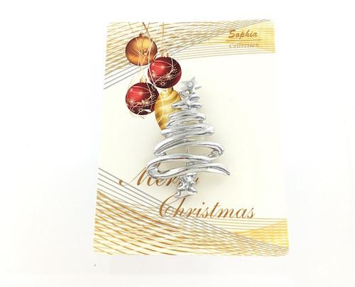 Wholesale Swirl Christmas Tree Pin
