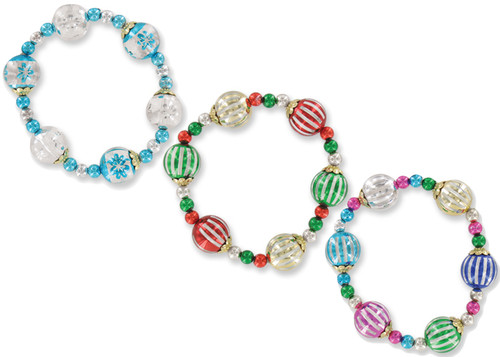Wholesale Holiday Theme Glass Bead Bracelets