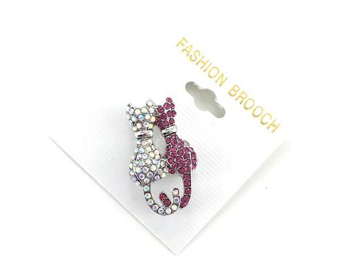 Wholesale Crystal Kitty Cats Pin