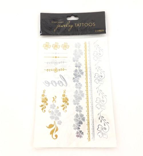 Wholesale Jewelry Tattoos - Love Flower