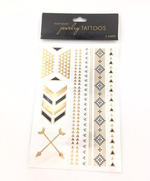 Wholesale Jewelry Tattoos - Geometric Arrow