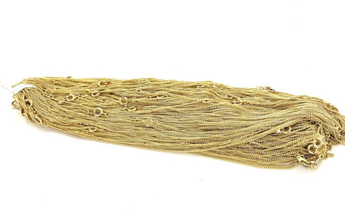 Wholesale Curb Chain by the Gross - 1MM Wide - 18 Inches Long