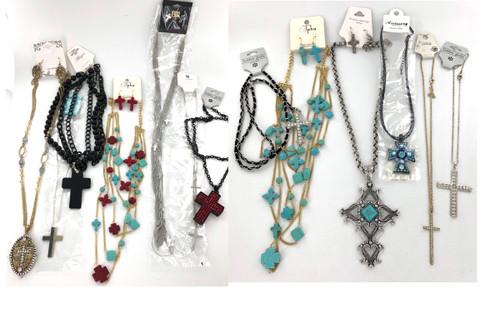 Wholesale Cross Necklace Assortment by the Dozen