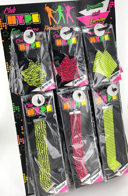 Wholesale Club Hype Earrings & Bracelet Assortment
