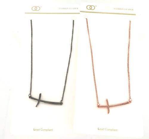 Wholesale Sideways Cross Necklace