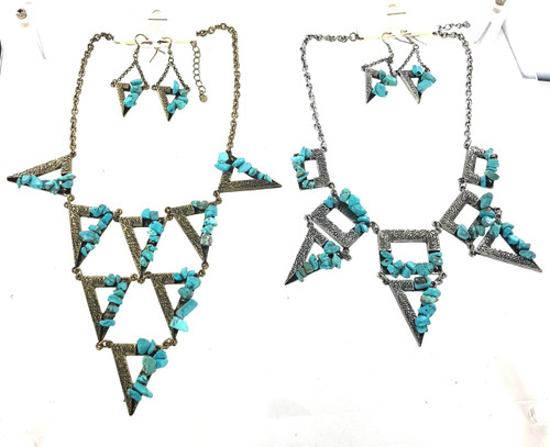 Wholesale Turquoise Fashion Necklace and Earring Sets