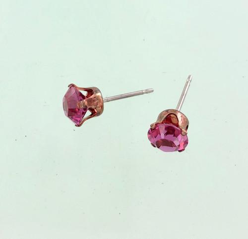 Wholesale Stud Closeout - Fuchsia Swarovski Crystal