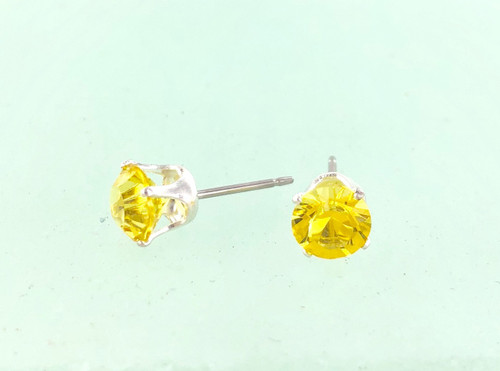 Wholesale Stud Closeout - Canary Swarovski Crystal