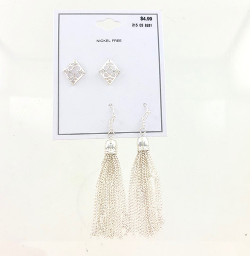 Wholesale Dept Store Earrings - Diamond Tassel